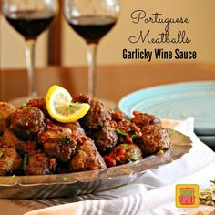 Portuguese Meatballs in a Garlicky Wine Sauce