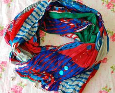 Multicolor Scarf, Colorful Scarf, Oriental Style Scarf, Summer Scarf, Boho Scarf, Boho Clothing, Bohemian Scarf, Oriental Scarf, Boho