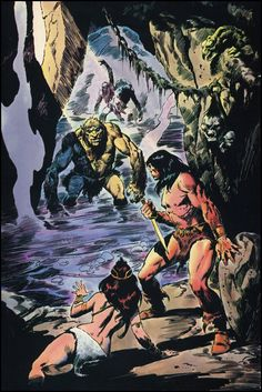 Conan art by John Buscema