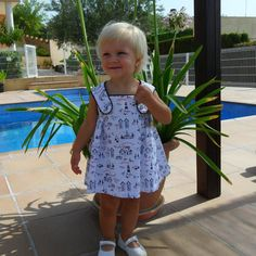 Girl toddler dress Vestido y coulotte niña por missmariposas