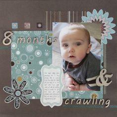 Baby Crawling Scrapbook Layout