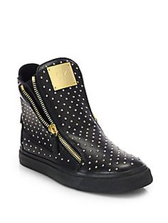 Giuseppe Zanotti Studded Leather High-Top Sneakers Review