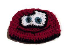 haha.. close enough... Baby Toddler Hat Disney Cars Inspired Crochet Red. $10.00, via Etsy.