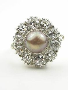 1920s akoya pearl engagement ring    lovelovelovelovelovelovelovelovelove!!!!!!!!!!!!!!!!!!!!!