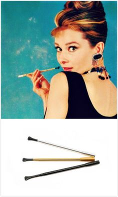 Fully functional and stylish vintage Cigarette Holder as seen used by the Iconic Audrey Hepburn in Breakfast at Tiffany's. Made...