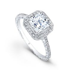 www.diamondconnectiononline.com Call today to order 6192968900 #EngagementRing by: #BeverlyK Style: R370(A)-D,D,CZ HALO