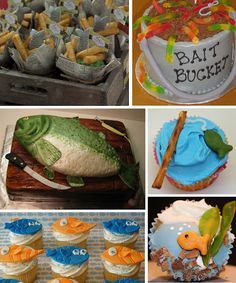 Fishing theme b-day party. This would be perfect for Jason. Might have to wait til next year though ;)