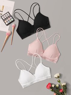 To find out about the Crisscross Back Rib Bra Set at SHEIN, part of our latest Bras & Bralettes ready to shop online today! Jolie Lingerie, Cute Lingerie, Lingerie Outfits, Bra Lingerie, Fashion News, Fashion Outfits, Latest Bra, Cute Bras, Bra Types