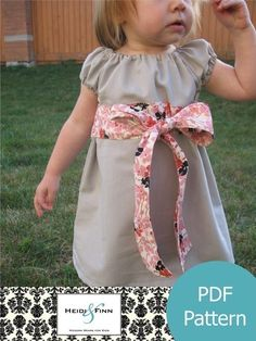 """Perfect Little Party Dress - Sizes: 12M - 5T  """"great for those just starting to sew and all you need is a sewing machine - no fancy tools needed! This easy to sew pattern features all colour photos and pages of step by step instructions """"- 6$"""