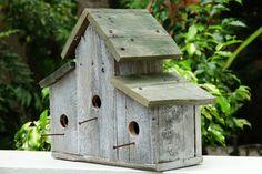 Birdhouse Rustic Birdhouse Primitive Bird House Barnwood
