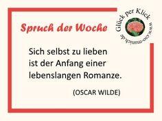 Spruch der Wochen von Oscar Wilde  Mehr Sprüche gibt's im Artikel