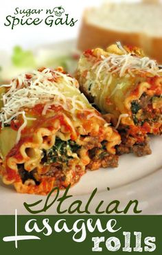 Italian Lasagna Rolls on MyRecipeMagic.com #lasagna #rolls #italian