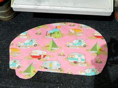 Camper Mat using fabric from Mayjane Butters 'glamping' line for Moda | Girl Camping Blog