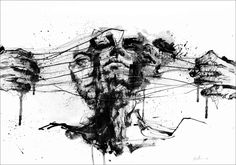 Drawing Restraints by Agnes Cecile  Prints from $48 at Eyes On Walls  http://www.eyesonwalls.com/collections/agnes-cecile/products/drawing-restraints-fine-art-print#  #art