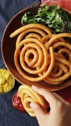 Crispy Potato Spirals - the epic curly fries. - I PLAN TO MAKE USING CAULIFLOWER INSTEAD OF POTATOES!!!