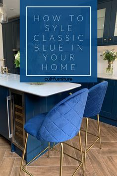 An all-around colour, adaptability is the name of the game for Pantone classic blue. Learn how to make the most of it in your home Beige Living Rooms, Blue Words, Contemporary Wall Decor, Neutral Color Scheme, Pink Sofa, Blue Cushions, Wooden Dining Tables, Vintage Interiors, Warm Colors