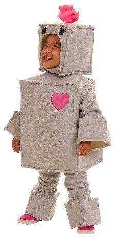 Pin for Later: 169 Warm Halloween Costume Ideas That Won't Leave Your Kids Freezing Rosalie the Robot Costume Rosalie the Robot Costume ($53)