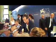 The charming Jude Law - The Young Pope -  greets and signs autographs