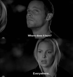 Find images and videos about black and white, hurt and grey's anatomy on We Heart It - the app to get lost in what you love. Greys Anatomy Izzie, Grays Anatomy Tv, Grey Anatomy Quotes, Stephanie Edwards, Izzie Stevens, Justin Chambers, Grey's Anatomy Tv Show, Youre My Person, Words To Describe