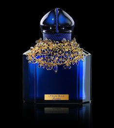 L'Heure Bleu  Guerlain Christmas 2012 Limited edition Baccarat crystal decorated bottle