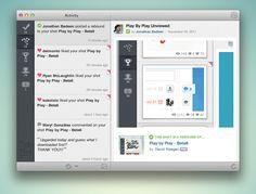 App desktop for dribbble