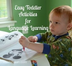 easy toddler activities for language learning