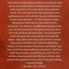 How shall they hear? Hear what? Not your beliefs!  The Good News of Jesus Christ!!!