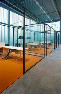 Glass office partition STRIJKERS PARTITION SYSTEM by @lensveltfur  #design ELINE STRIJKERS