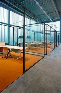Glass office partition STRIJKERS PARTITION SYSTEM by @lensveltfur  #design ELINE STRIJKERS