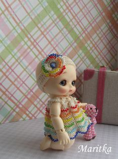 PRE-ORDER.  Set for Nappy Choo Candy rainbow. by KnittedBeads