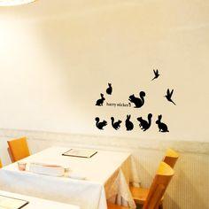 wallsticker squirrel Wallpaper interior Design