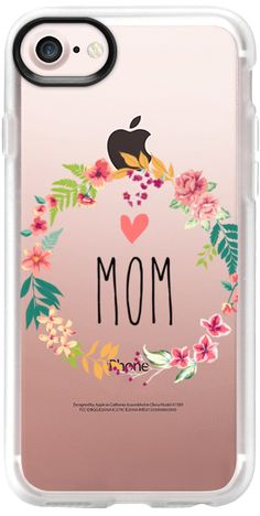 Casetify iPhone 7 Classic Grip Case - Mom by Allison Reich USE CODE: R7RAGW & GET DISCOUNT! #phonecase #iphonecase #case #cases #clearcase #mom #mother #mothersday #floral #flowers #gifts #giftsformom #giftsforher #love #xoxo