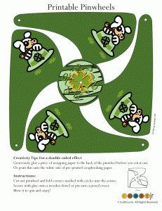 puppy leprechaun pinwheel 231x300 St. Patrick's Day Printable Pinwheels
