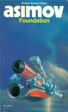 Foundation trilogy by Isaac Asimov reissued in 1977 with new artwork by Chris Foss and reissued . -The Foundation trilogy by Isaac Asimov reissued in 1977 with new artwork by Chris Foss and reissued . Isaac Asimov, Arte Sci Fi, Sci Fi Art, Book Cover Art, Book Art, Book Covers, Asimov Foundation, Foundation Series, Science Fiction Kunst