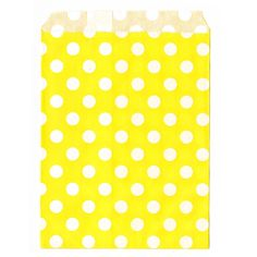 5 pochettes papier jaune à pois blancs