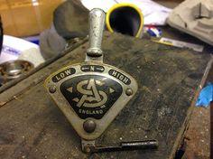 Vintage Sturmey Archer 3-speed quadrant gear shifter trigger lever, brass 1930's in Sporting Goods   eBay
