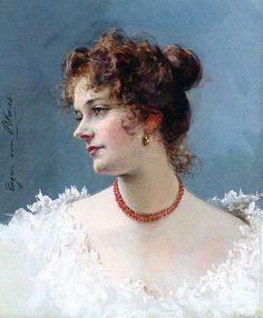 Eugène de Blaas - Portrait of a Lady