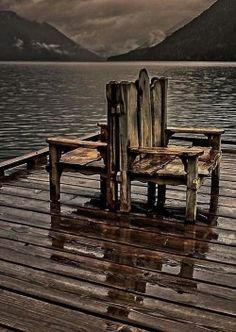 elwendia: (via Chairs - Crescent Lake, Olympic National Park, Washington - by McAzadi) Outdoor Chairs, Outdoor Furniture, Outdoor Decor, Crescent Lake, Joy Of Life, Great Shots, Simple Pleasures, Color Themes, National Parks