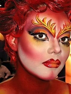 high-fashion-photographic-makeup - add some horns and change the colors to fit natures backgrounds it would be killer! @Libby Loo @Lindsay Dillon Farber