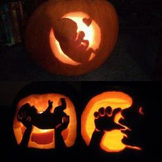 Voices for the Unborn - Community - Google+  Prolife pumpkins carved out by Father Frank Pavone, Priests for Life.