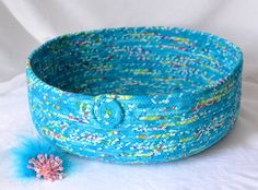 $60 #Modern #Cat #Bed #Handmade by me, #turquoise #Fabric #Basket #Aqua #Magazine #Rack #storage #organizer by #Catbed4paws