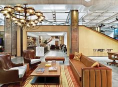 Best co-working spaces in NYC for independent employees Contemporary Stairs, Contemporary Building, Contemporary Cottage, Contemporary Architecture, Contemporary Interior, Contemporary Office, Contemporary Chandelier, Architecture Office, Contemporary Landscape