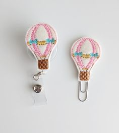 Hot Air Balloon Felt Paperclip | Badge Reel | ID Badge | Felt Holder | Lanyard | Planner Clip | Planner Accessories | Spring Feltie | Summer
