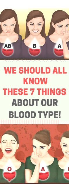 We Should All Know These 7 Things About Our Blood Type.! Need to know.!!!!