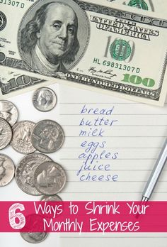 6 Ways to Shrink Your Monthly Expenses - The Frugal Navy Wife