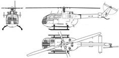The MBB Bo 105 is a light, twin-engine, multi-role helicopter which featured a revolutionary hingeless rotor system (a pioneering innovation) when introduced into service in 1970) with over 1,500 built