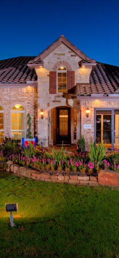 Impress your guests with a beautiful #exterior. #frontyard #architecture #brick #homes #newhomes
