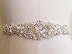 Wedding Sash Belt Bridal Sash Belt - Crystal Sash Belt August 13 2015 at 12:15AM