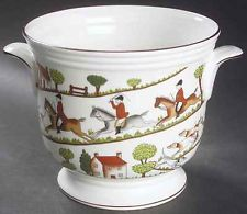 Crown Staffordshire HUNTING SCENE Cachepot