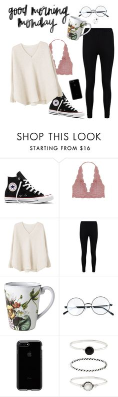 """m o n d a y"" by sighrily on Polyvore featuring Converse, Humble Chic, MANGO, Boohoo, Juliska, Accessorize, love, tumblr and grunge"